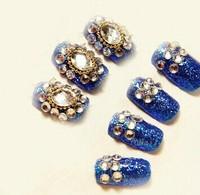 hot new fake nails bride Nail rhinestones glitter false nail tips false nail patch Free Shipping