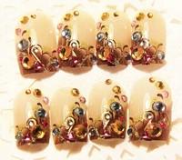 hot new  fashion nail Amber false nail tips Free Shipping