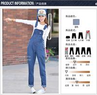 Plus size jumpsuit loose denim bib pants Women's  jeans denim jumpsuit overalls Straight cylinder