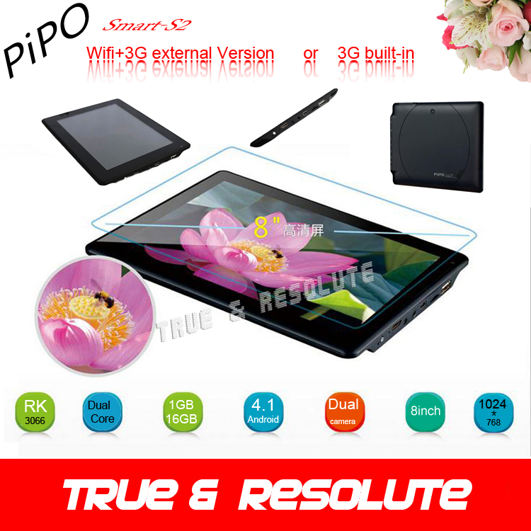 Hot 3G External or 3G Built in Pipo Smart S2 Tablet PC Duad Core 1.6GHZ RK3066 1G DDR3 16GB HDMI Android4.1 LG IPS GPU Quad Core(China (Mainland))