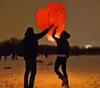 Chineses Kongming Lantern Flying Sky Lantern Wishing Lamp (15pcs/Pack/Assorted Color) free shipping