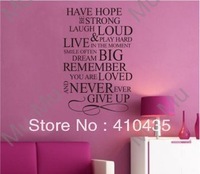 Have Hope .....Never ever Give Up !/Art /Vinyl sticker decor. Wall Quote  /Stickers Vinyl Wall Art Decals/Home Decor
