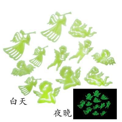 2014 New Free Shipping Home Wall Glow In The Dark Angel 3D Stickers Decal Baby Kids Gift Nursery Room Drop Wholesale And Retail(China (Mainland))