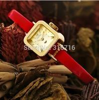 Quartz Watch Korea Famous Brand JULIUS Luxury Women Wristwatch,Square Three-dimentional Women Clock Leather Strap Watches JA-399