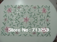 No.148 High quality embroidered table placemat set  pink blue  flower for home hotel wedding (30*45cm  )free shipping