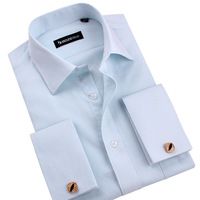 2014 New Luxury Brand French Shirts Men's Long Sleeve Shirts Cotton Men Dress Shirts Long Sleeve