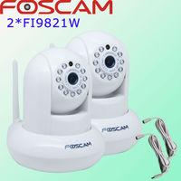 2x Foscam FI9821W White HD H.264 Wireless cctv security gsm alarm system  IP Web Security Camera IR 1280*720 HD