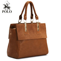 2013 autumn new WEIDIPOLO brand Composite Genuine Leather women handbag brown fashion designer big bag freeship Promotion!86231