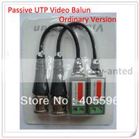 Wholesale 100 Pieces/lot 1 Channel CCTV Passive Video Balun BNC Connector cat5 utp