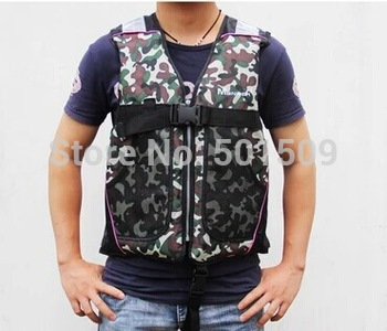 adult beach camouflage life jacket with pockets life vest lifejacket