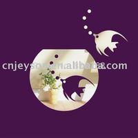 Min order 15 usd ( Mix items ) Goldfish 3D mirror stickers 9pcs fish home decor,kids bedroom decoration