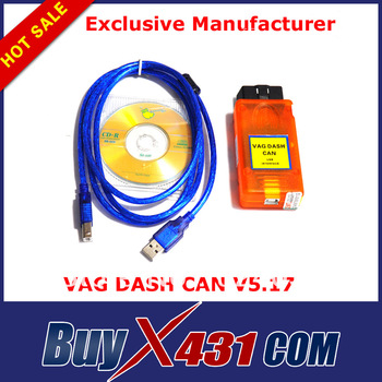 2pcs/lot Hot High-Performance VAG DASH CAN V5.17 Diagnostic Scanner Tools Pin Code Reader Free Shipping