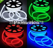 50M spool 24V bright LED neon flexible strip ribbon 12*26mm 80LED/M flex neon rope lamp red yellow green blue white RGB +Fedex(China (Mainland))