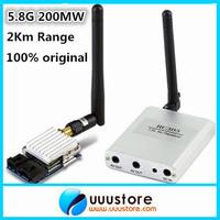 Mini FPV System Boscam 5.8G 200mW 8Ch Audio Video Transmitter/TX + Receiver/Rx TS351+RC305 2KM Range For DJI Phantom Gopro