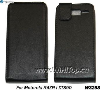 1 pcs Only,Leather Flip Case For Motorola Razr i XT890 Cover Skin.PU Leather Case For Motorola.