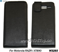 1 pcs Only,Leather Flip Case For Motorola Razr i XT890 Cover Skin.PU Leather Case For Motorola.