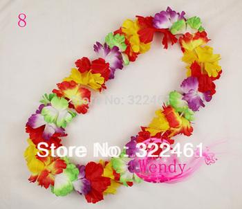 30pcs/lot new 2014 party supplies hawaiian flower lei garland hawaii necklace  ~~free shipping