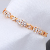 Designers ! New arrival Color Crystal Zircon jewelry 18K k Yellow Gold Plated Bracelets Fashion jewelry XB011 Free shipping