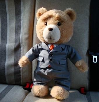 Free Shipping 45cm Stuffed Teddy Bears Discount Giant Stuffed Teddy Bear plush Toys Fot The Girl Children Ted Movie