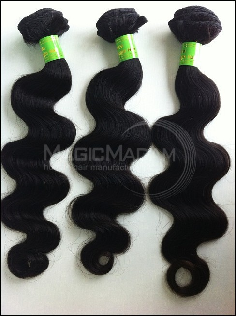 Grade AAAA Same length 3pcs/lot Soft Remy Brazilian virgin hair,3pcs cheap price fine quality, black color ,DHLfree shipping(China (Mainland))
