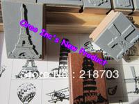 Best Price Ever SCRAPBOOKING Eiffel Tower Italy Europe Paris New York 17 Vintage Wooden/ Rubber Stamp Set