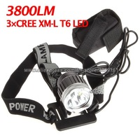 New 3800 Lumen 3x CREE XM-L T6 LED Headlight Headlamp Bicycle Bike Light Waterproof Flashlight 004