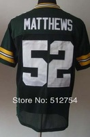#52 Clay Matthews Jersey,Elite Football Jersey,Best quality,Authentic Jersey,Size M L XL XXL XXXL,Accept Mix Order