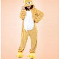 New Adults Animal Rilakkuma Bear Pajamas Sleepsuit Onesie Sleepwear Unisex (Cosplay)