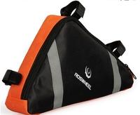 ROSWHEEL Bicycle bag Frame Front bag Triangle Bag Orange mountain bike Cycling