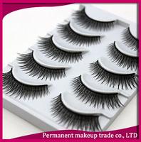 High quality natural cotton nude makeup false eyelashes box 5 f10
