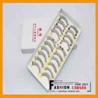 Handmade false eyelashes natural nude makeup lengthening ultra long lips transparent false eyelashes 021 10 box