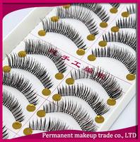 Handmade false eyelashes natural lips makeup bare lengthen the dense a4 10 box-free shiping