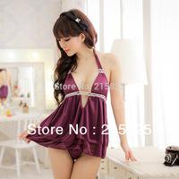 sexy lingerie set plus size pajamas for women Deep v Adult Costume Sex Dress Set Sleepwear,Underwear ,Uniform ,Kimono Costume