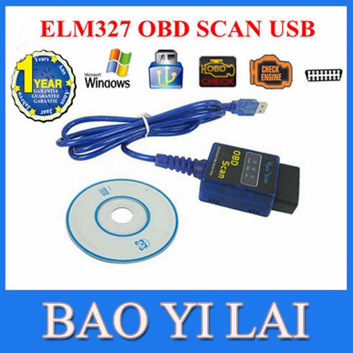 Vgate ELM 327 ELM327 v1. 5 OBD2 OBD-II USB Car Diagnostic Scanner Adapter with CD Software(China (Mainland))