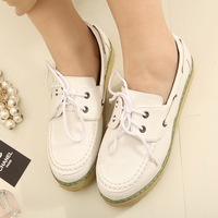New Stylish Woman Retro Style Dress Lace-up Shoe Comfort Sponge cake Bottom Shoes X070 2 Color