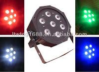 New 7pc*10w 4 in 1 RGBW led flat par can/led par light   LTD-par7