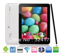 "Cube U23GT 8"" Quad core RK3066 Android 4.0 Cold Ice 1.6GHZ 1GB/16GB Camera WiFi Tablet PC Free Shipping"