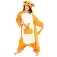 New kangaroos Polar Fleece Women's fashionable design Costume KIGURUMI  Animal Pajamas Nightwea