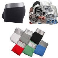1pc hot sale Sexy Men's Man steel Underwear Boxer shorts 10 colors men boxers with single retail package Asian Size M L XL XXL