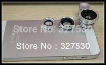fisheye wide-angle macro lens for apple ipad iphone4/4S/5 for Samsung GALAXY SIII note2 for HTC  for anyone phone
