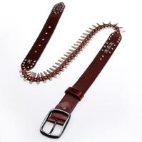 New 2014 Genuine Leather Vintage Punk Mens Belt Cowhide Retro Bullet Skull Belts For Men 2014 Designer Casual Dress  TBT0035
