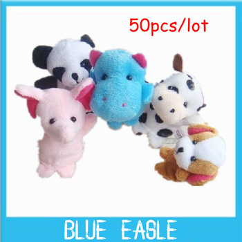 2014 Drop Shipping Animal finger Plush puppets patterns toys+wool Wear toys+finger doll+Christmas gifts+Baby dolls 50pcs/lot