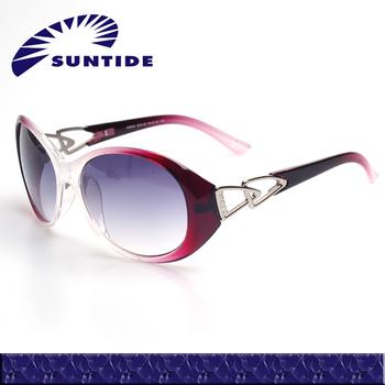 (K9042) 2013 Colorful fashion rhinestone frame glasses sunglasses with storage box for glasses