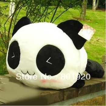 Hot sale 10''/25cm 2 piece Cushion Lumbar Pillow Panda Plush Toy pillow Cute Panda Comfortable lint Toy