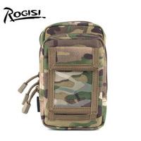 Brand:Rogisi 10P16 Molle Waist Pouch Bag (Cintura Malote)  Men Bag Color:Black/Wolf Brown/ACU Didital Camo Size:10CM*5CM*18CM