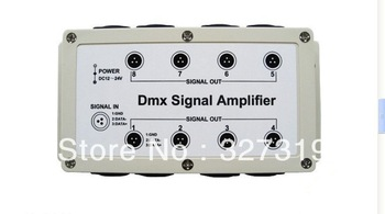 1pcs DMX DMX512 8 Channel Output LED Controller Signal Amplifier Splitter Distributor free shipping