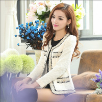 New Arrival!!!2014 Fashion Winter Women Slim Blazer Coat Casual Jackets Long Sleeve O-Neck Short Outerwear NWT011