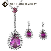 Neoglory Zircon Auden Rhinestone Necklaces & Earrings Jewelry Set For Women Wedding Statement Charm Brand Sale Gift