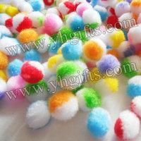 1000PCS/LOT. 2.3cm pompom,Multicolor pom-pom,DIY accessories,Handmade accessories,Creative,Craft material.Freeshipping.Wholesale
