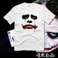 2013 New 100% cotton quality Joker funny batman mens lovers cute couple short sleeve t-shirts movie shirt  plus size TS002